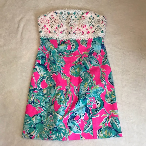 d1ae08aacf7 Lilly Pulitzer Dresses   Skirts - NWOT Lilly Pulitzer Lobster in Love Brynn  Dress 00